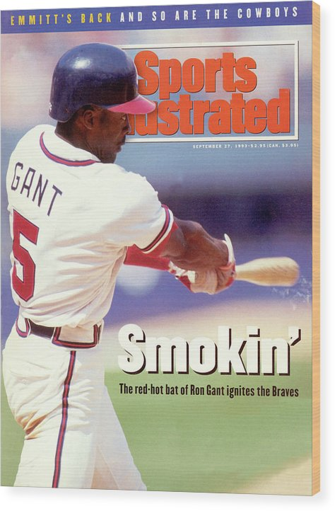 Atlanta Wood Print featuring the photograph Atlanta Braves Ron Gant... Sports Illustrated Cover by Sports Illustrated