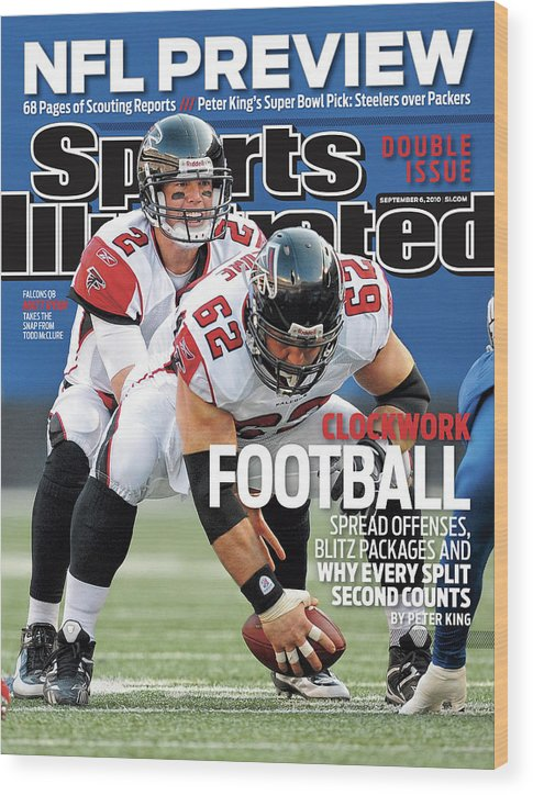 Magazine Cover Wood Print featuring the photograph Atlanta Falcons V New York Giants Sports Illustrated Cover by Sports Illustrated