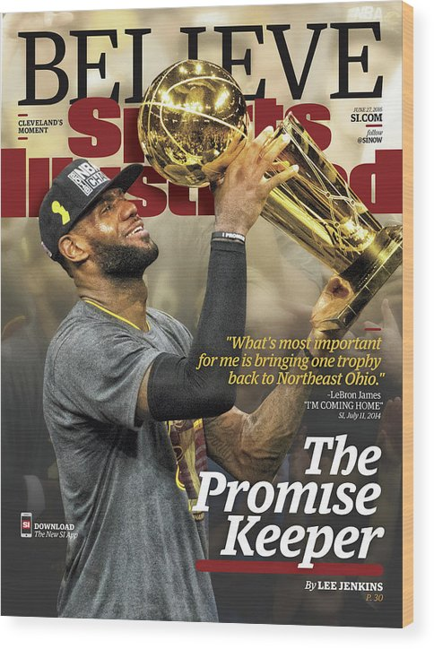 Magazine Cover Wood Print featuring the photograph Believe The Promise Keeper Sports Illustrated Cover by Sports Illustrated