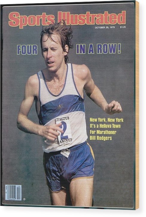 Magazine Cover Wood Print featuring the photograph Bill Rogers, 1979 New York City Marathon Sports Illustrated Cover by Sports Illustrated