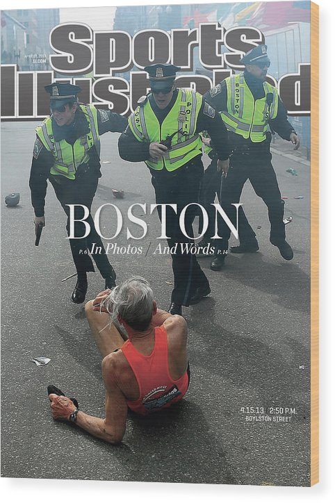 Magazine Cover Wood Print featuring the photograph Boston Bombing Sports Illustrated Cover by Sports Illustrated
