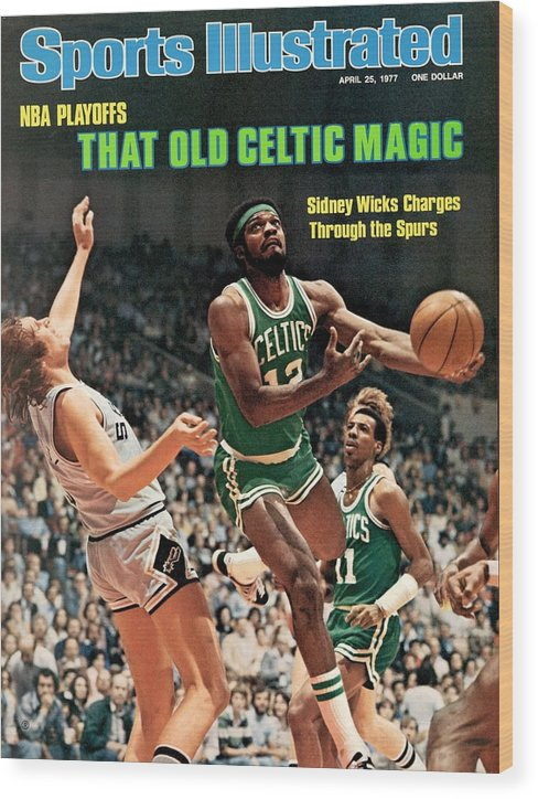 Playoffs Wood Print featuring the photograph Boston Celtics Sidney Wicks, 1977 Nba Eastern Conference Sports Illustrated Cover by Sports Illustrated