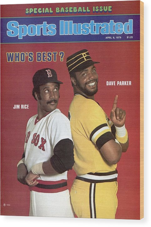 Season Wood Print featuring the photograph Boston Red Sox Jim Rice And Pittsburgh Pirates Dave Parker Sports Illustrated Cover by Sports Illustrated