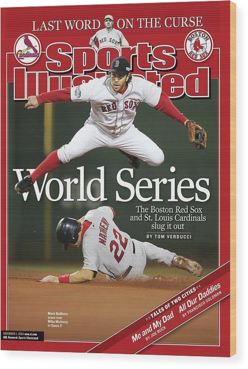 St. Louis Cardinals Wood Print featuring the photograph Boston Red Sox Mark Bellhorn, 2004 World Series Sports Illustrated Cover by Sports Illustrated