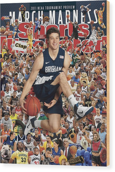 Provo Wood Print featuring the photograph Brigham Young University Jimmer Fredette, 2011 March Sports Illustrated Cover by Sports Illustrated