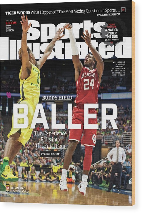Magazine Cover Wood Print featuring the photograph Buddy Hield Baller Sports Illustrated Cover by Sports Illustrated