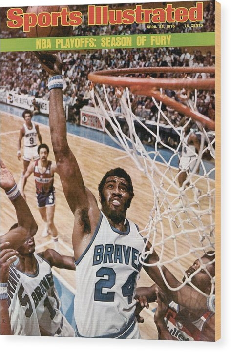 Playoffs Wood Print featuring the photograph Buffalo Braves Garfield Heard, 1975 Nba Eastern Conference Sports Illustrated Cover by Sports Illustrated