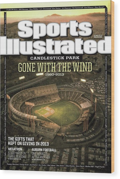 Candlestick Park Wood Print featuring the photograph Candlestick Park Gone With The Wind Sports Illustrated Cover by Sports Illustrated