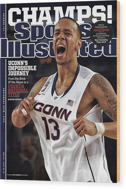 Magazine Cover Wood Print featuring the photograph Champs Uconns Impossible Journey From The Brink Of The Sports Illustrated Cover by Sports Illustrated