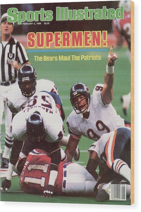 1980-1989 Wood Print featuring the photograph Chicago Bears Dan Hampton, Super Bowl Xx Sports Illustrated Cover by Sports Illustrated
