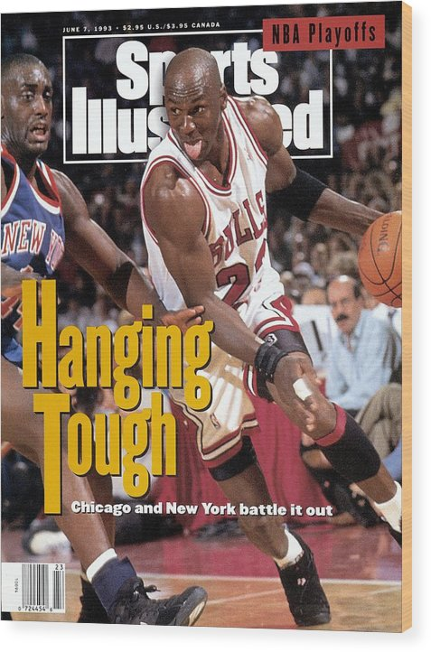 Playoffs Wood Print featuring the photograph Chicago Bulls Michael Jordan, 1993 Nba Eastern Conference Sports Illustrated Cover by Sports Illustrated