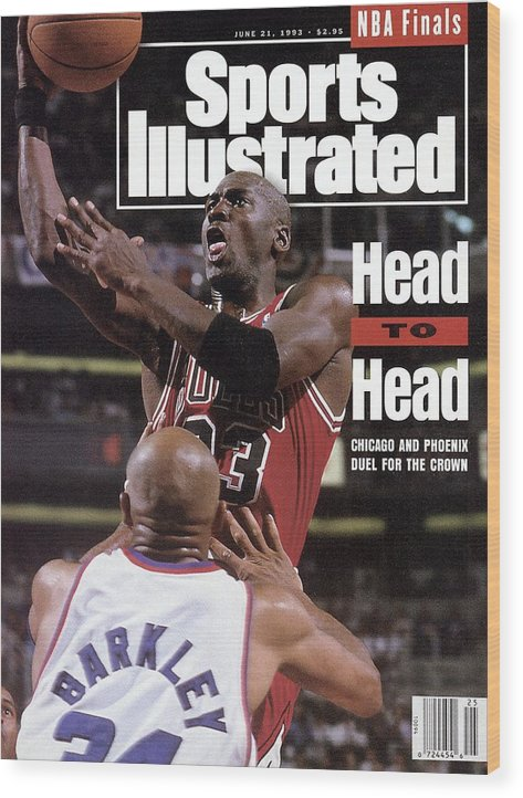 Playoffs Wood Print featuring the photograph Chicago Bulls Michael Jordan, 1993 Nba Finals Sports Illustrated Cover by Sports Illustrated
