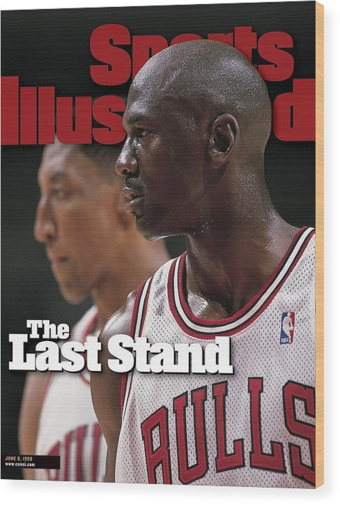 Playoffs Wood Print featuring the photograph Chicago Bulls Michael Jordan And Scottie Pippen, 1998 Nba Sports Illustrated Cover by Sports Illustrated