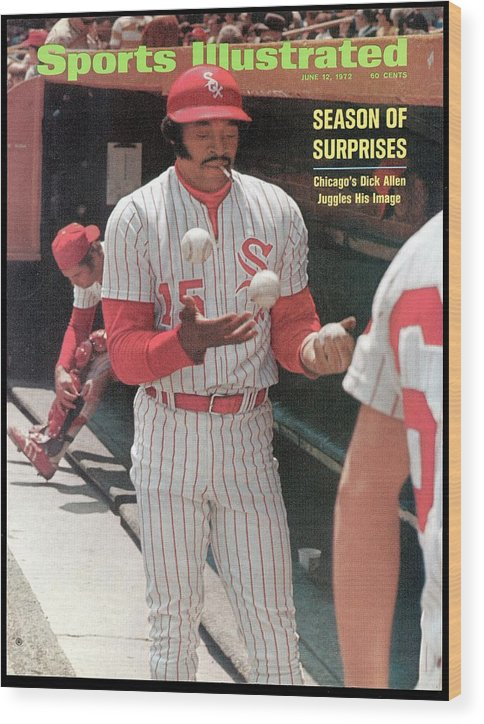 Magazine Cover Wood Print featuring the photograph Chicago White Sox Dick Allen... Sports Illustrated Cover by Sports Illustrated