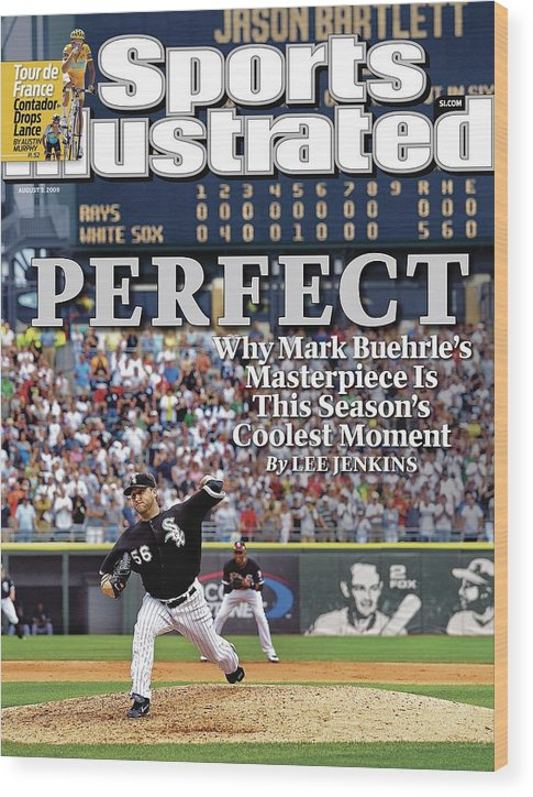 Magazine Cover Wood Print featuring the photograph Chicago White Sox Mark Buehrle... Sports Illustrated Cover by Sports Illustrated
