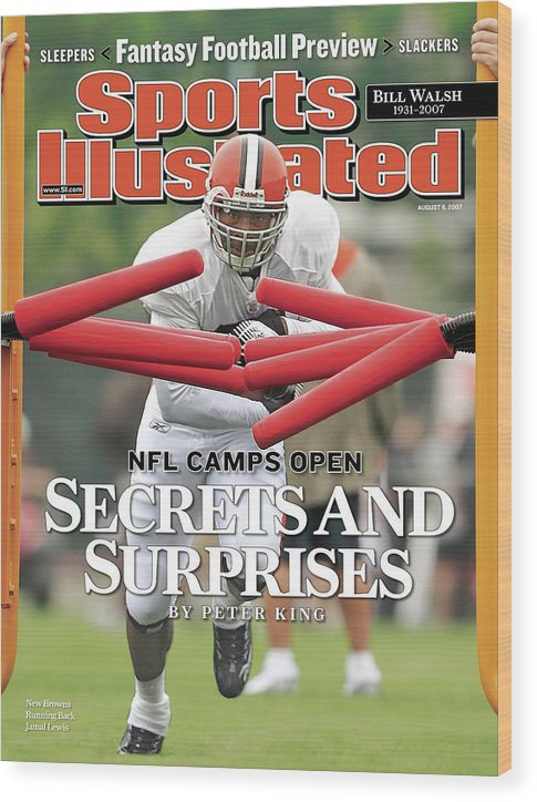 Magazine Cover Wood Print featuring the photograph Cleveland Browns Jamal Lewis... Sports Illustrated Cover by Sports Illustrated