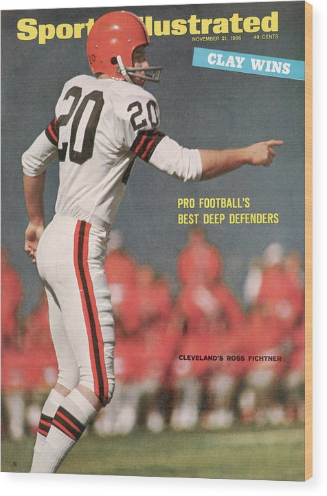 Atlanta Wood Print featuring the photograph Cleveland Browns Ross Fichtner... Sports Illustrated Cover by Sports Illustrated