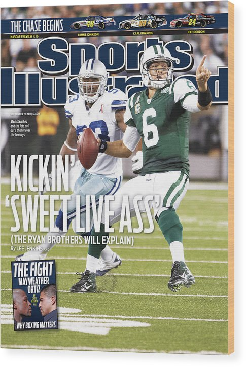 Magazine Cover Wood Print featuring the photograph Dallas Cowboys V New York Jets Sports Illustrated Cover by Sports Illustrated
