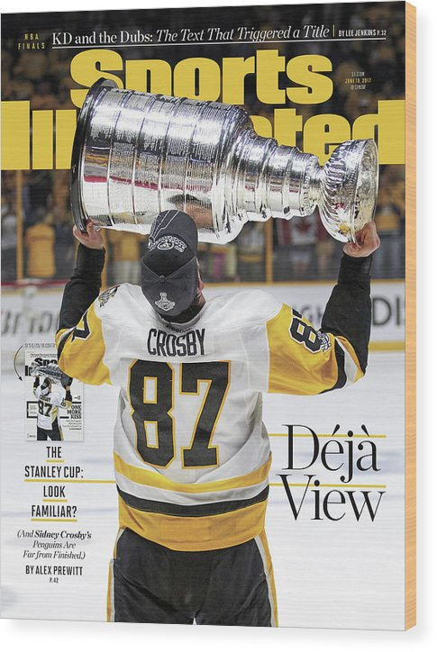 Magazine Cover Wood Print featuring the photograph Deja View. The Stanley Cup Look Familiar Sports Illustrated Cover by Sports Illustrated