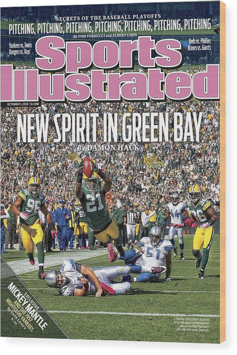 Green Bay Wood Print featuring the photograph Detroit Lions V Green Bay Packers Sports Illustrated Cover by Sports Illustrated