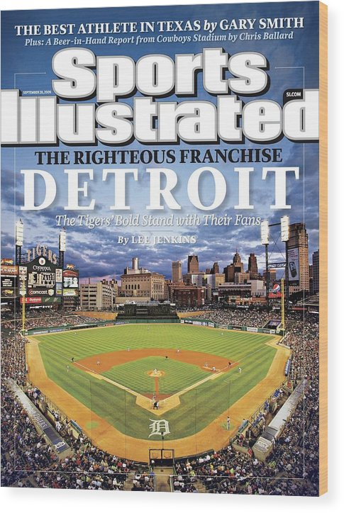 Magazine Cover Wood Print featuring the photograph Detroit Tigers Comerica Park Sports Illustrated Cover by Sports Illustrated
