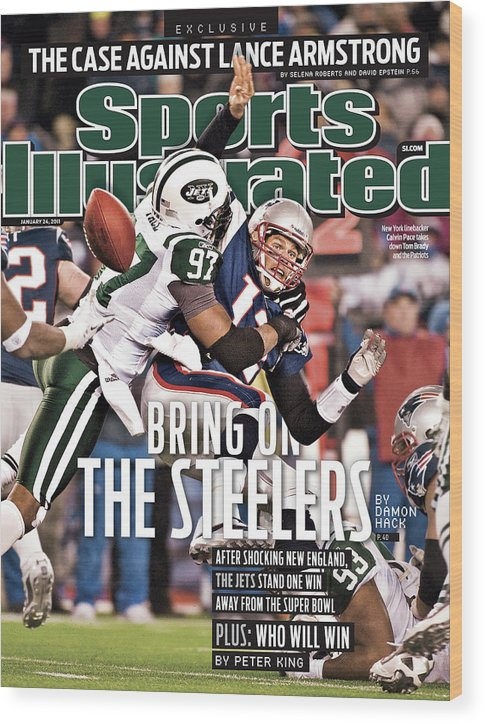 Magazine Cover Wood Print featuring the photograph Divisional Playoffs - New York Jets V New England Patriots Sports Illustrated Cover by Sports Illustrated
