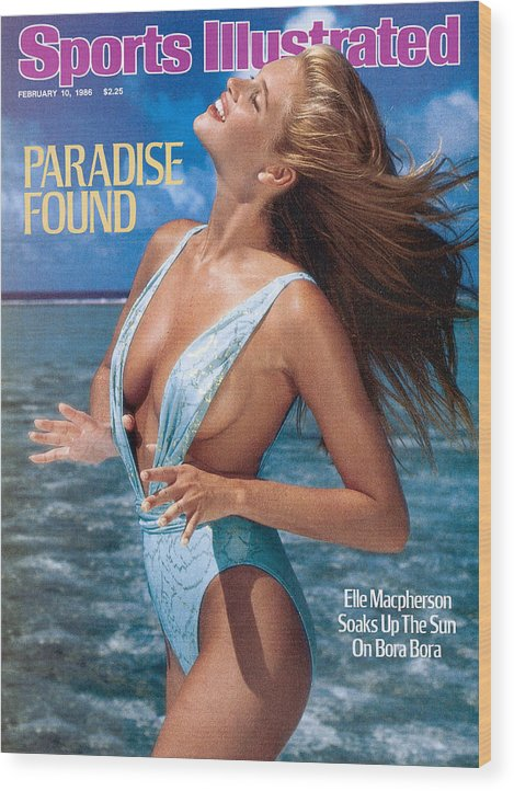 1980-1989 Wood Print featuring the photograph Elle Macpherson Swimsuit 1986 Sports Illustrated Cover by Sports Illustrated