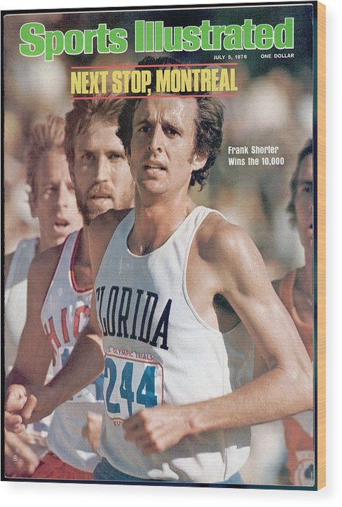 Magazine Cover Wood Print featuring the photograph Florida Frank Shorter, 1976 Us Olympic Trials Sports Illustrated Cover by Sports Illustrated