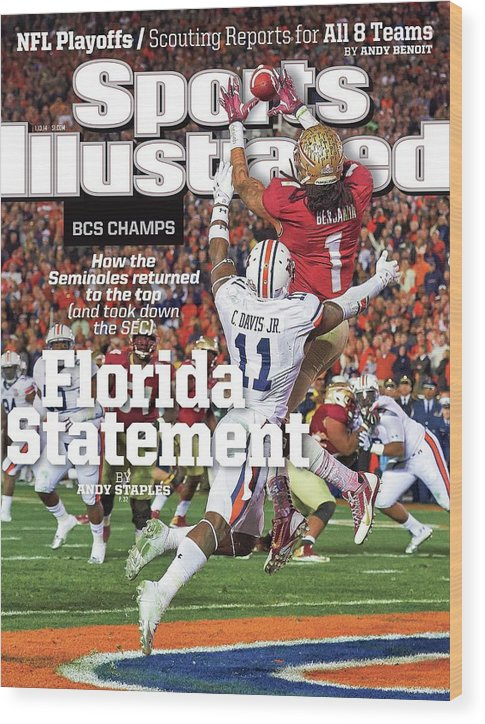 Magazine Cover Wood Print featuring the photograph Florida Statement 2013 Bcs Champion Sports Illustrated Cover by Sports Illustrated