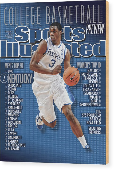 Magazine Cover Wood Print featuring the photograph Florida V Kentucky Sports Illustrated Cover by Sports Illustrated