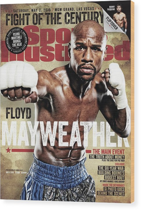 Event Wood Print featuring the photograph Floyd Mayweather Jr., 2015 Wbawbcwbo Welterweight Title Sports Illustrated Cover by Sports Illustrated