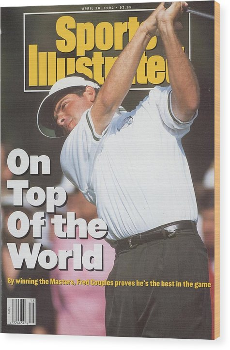 Magazine Cover Wood Print featuring the photograph Fred Couples, 1992 Masters Sports Illustrated Cover by Sports Illustrated