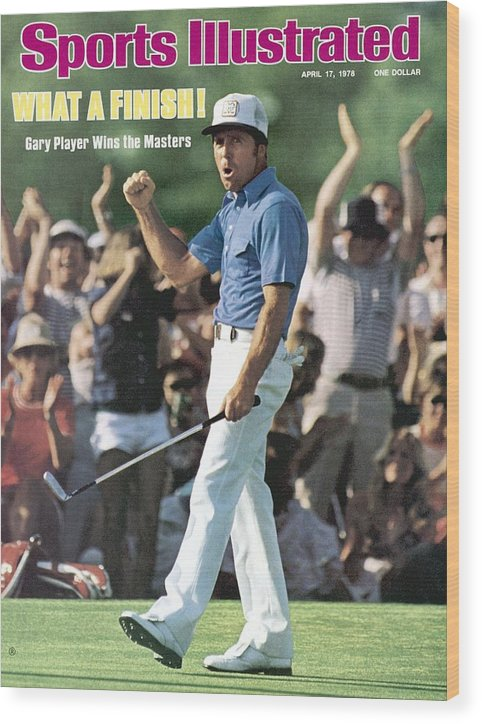 Magazine Cover Wood Print featuring the photograph Gary Player, 1978 Masters Sports Illustrated Cover by Sports Illustrated