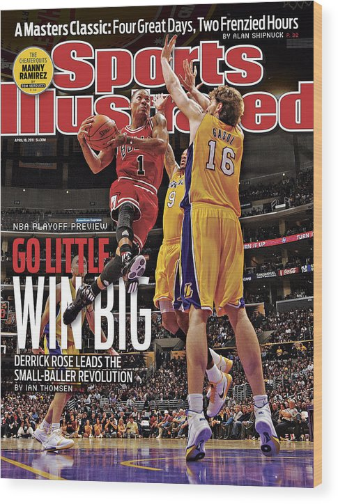 Chicago Bulls Wood Print featuring the photograph Go Little, Win Bing 2011 Nba Playoff Preview Issue Sports Illustrated Cover by Sports Illustrated