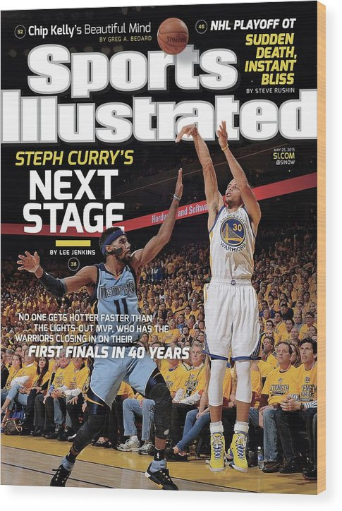 Magazine Cover Wood Print featuring the photograph Golden State Warriors Vs Memphis Grizzlies, 2015 Nba Sports Illustrated Cover by Sports Illustrated