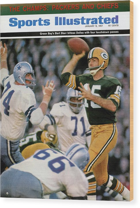 Making Wood Print featuring the photograph Green Bay Packers Qb Bart Starr, 1967 Nfl Championship Sports Illustrated Cover by Sports Illustrated