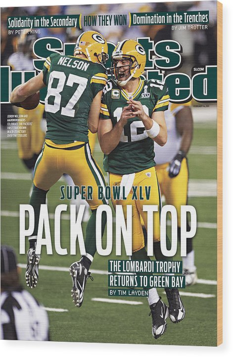Sports Illustrated Wood Print featuring the photograph Green Bay Packers Vs Pittsburgh Steelers, Super Bowl Xlv Sports Illustrated Cover by Sports Illustrated