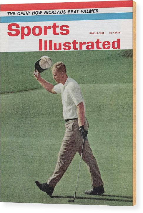 Magazine Cover Wood Print featuring the photograph Jack Nicklaus, 1962 Us Open Sports Illustrated Cover by Sports Illustrated