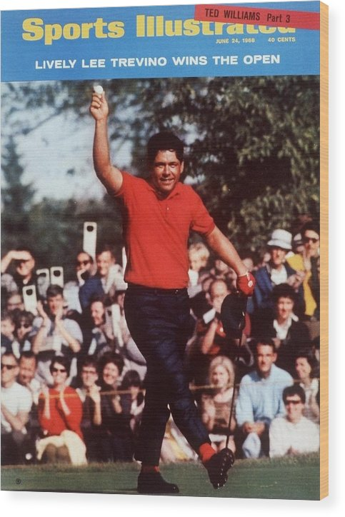 Magazine Cover Wood Print featuring the photograph Lee Trevino, 1968 Us Open Sports Illustrated Cover by Sports Illustrated