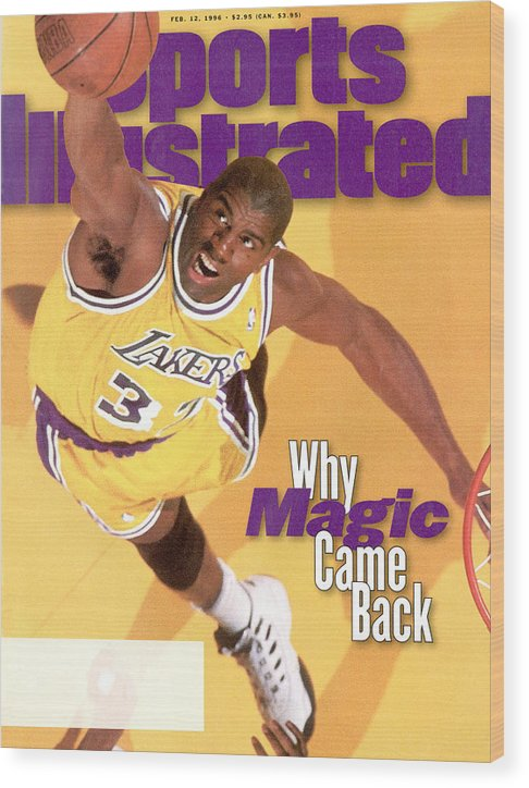 Chicago Bulls Wood Print featuring the photograph Los Angeles Lakers Magic Johnson Sports Illustrated Cover by Sports Illustrated