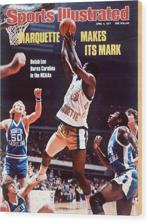 Atlanta Wood Print featuring the photograph Marquette Butch Lee, 1977 Ncaa National Championship Sports Illustrated Cover by Sports Illustrated