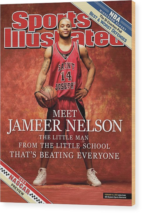 Point Guard Wood Print featuring the photograph Meet Jameer Nelson The Little Man From The Little School Sports Illustrated Cover by Sports Illustrated