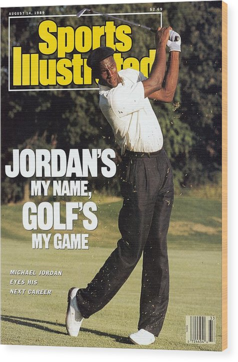 1980-1989 Wood Print featuring the photograph Michael Jordan, 1989 St. Jude Classic Sports Illustrated Cover by Sports Illustrated