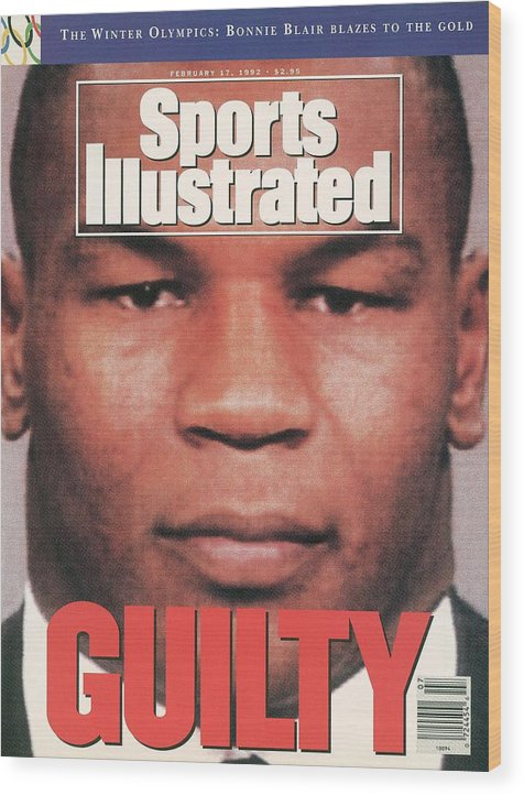 Magazine Cover Wood Print featuring the photograph Mike Tyson, Heavyweight Boxing Sports Illustrated Cover by Sports Illustrated