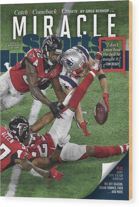 Magazine Cover Wood Print featuring the photograph Miracle Catch, Comeback, Crown Sports Illustrated Cover by Sports Illustrated