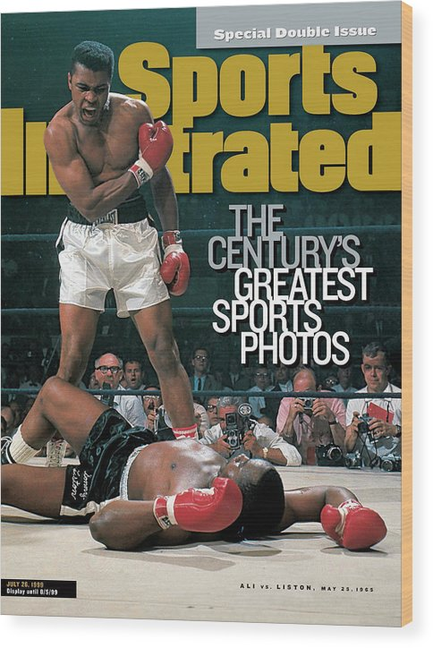 Magazine Cover Wood Print featuring the photograph Muhammad Ali, 1965 World Heavyweight Title Sports Illustrated Cover by Sports Illustrated