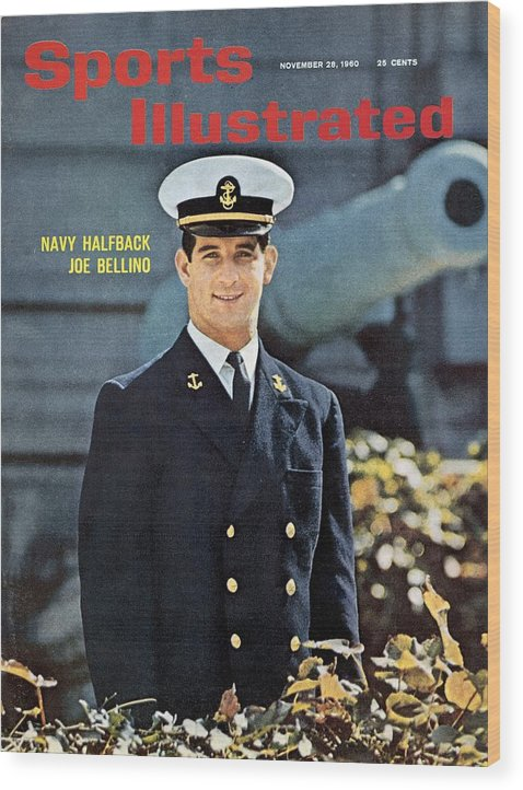 Magazine Cover Wood Print featuring the photograph Navy Joe Bellino Sports Illustrated Cover by Sports Illustrated