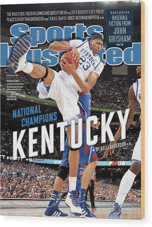 Magazine Cover Wood Print featuring the photograph Ncaa Basketball Tournament - Final Four - Championship Sports Illustrated Cover by Sports Illustrated