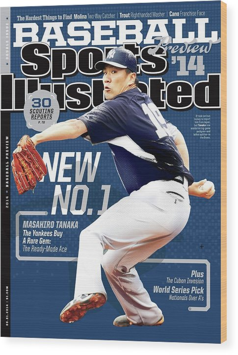 Magazine Cover Wood Print featuring the photograph New No. 1 2014 Mlb Baseball Preview Issue Sports Illustrated Cover by Sports Illustrated