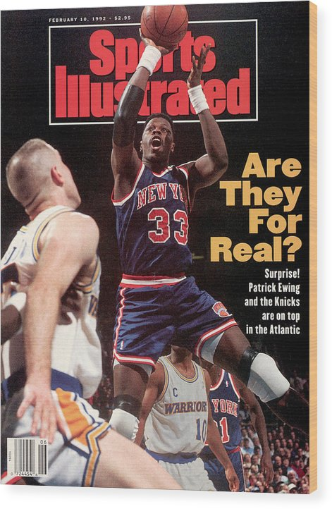 Magazine Cover Wood Print featuring the photograph New York Knicks Patrick Ewing... Sports Illustrated Cover by Sports Illustrated